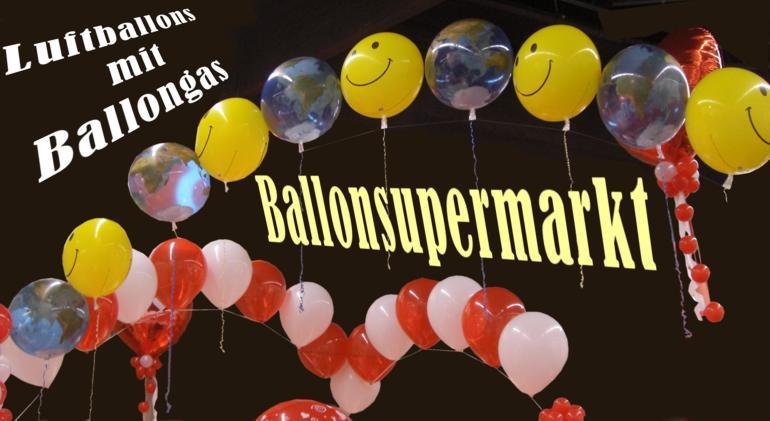 Wunderschöne Luftballons mit Ballongas